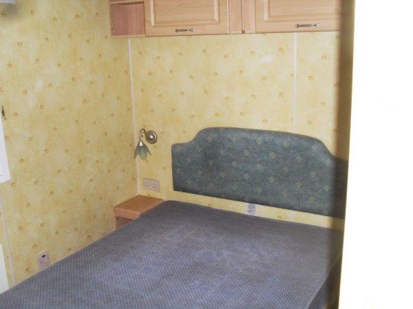old fashioned caravan interior