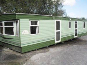 green and white caravan