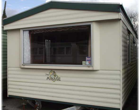 cream mirage caravan