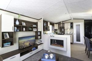 interior of caravan