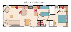 Rivington 42 x 14 - 2 Bedroom