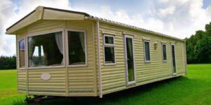 new static cream caravan